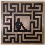 """24""""x24"""" acrylic on wood panel"""